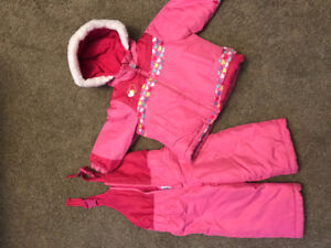2 piece snow suit and winter boots