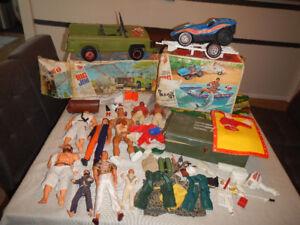Lot de Figurines et Véhicules des Années 70 Big Jim & Autres