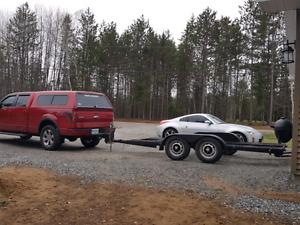 13x6 flat deck tandem axle trailer