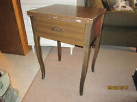 Brown Sewing Machine Table