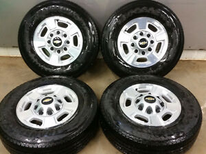 CHEVROLET 17INCH FACTORY ALLOY WHEELS/TIRES $1200.00