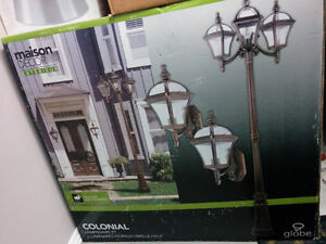 Globe Colonial Outdoor Light Fixtures wall lanterns lamp post