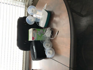 Evenflo Double Electric Breast Pump with accessories