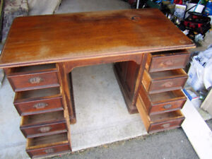 collectible solid wood desk