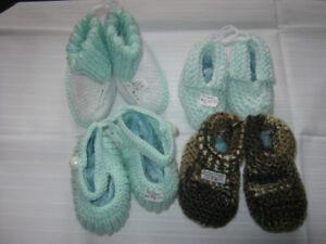 New Homemade Knit/Crochet Children's Slippers