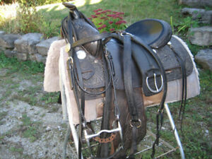 Complete western SILVER SUPREME saddle package