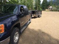 Truck and trailer 14x5 headed to Edmonton