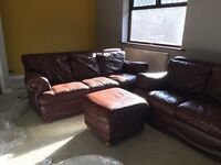 Sofas x 2 & footstool