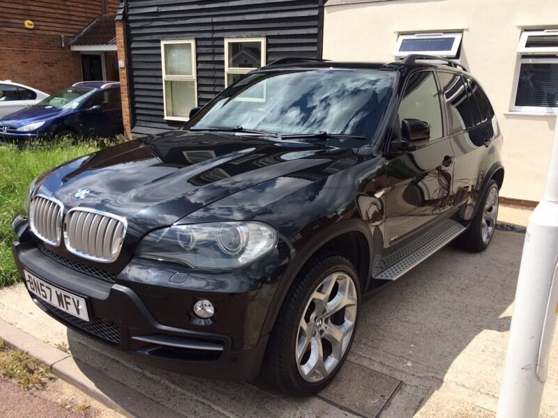 2007 black bmw x5 4 8 v8 auto 7 seater every extra possible e70 in basildon essex gumtree. Black Bedroom Furniture Sets. Home Design Ideas