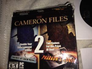 jeu sur pc  the cameron files  deux jeux pour le prix d un
