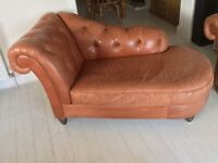 Chaise Longue Italian Leather Excellent Condition