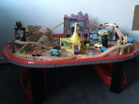 Disney cars table & track (wooden set)