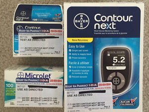 REDUCED: Barely used glucose meter, strips, lancets