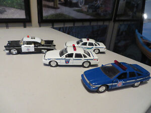 4 Diecast Cars--Police--1:43 scale