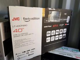 TV 40INCH JVC FIRETV EDITIONAL BRAND NEW SMART 4K ULTRA HD HDR