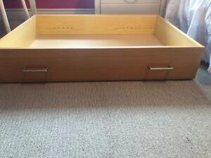 Under bed pine storage drawers
