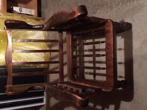 Antique single sofa chair frame