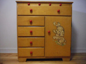 5 drawer and cubby dresser for child's room