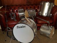 Vintage Premier Drum Kit. Good drums some other bits need minor attention