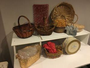 Assortment of Baskets for Gifts