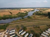 Caravan for sale on the River Trent, Fishing, Water skiing, Narrow Boat Moorings