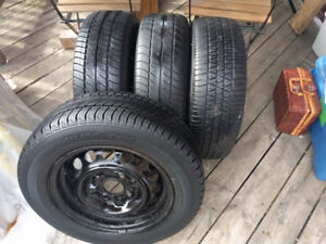 185/65 R14 4x114.3 all season tires on rims - great condition!!
