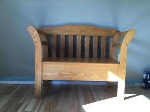 Solid Oak Entry Bench