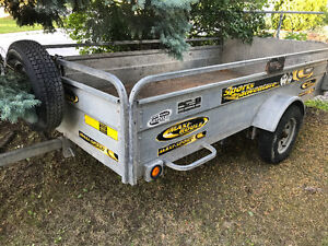 Trade 5x10 for a 4x8 trailer and cash.