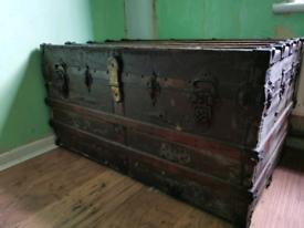 Large egal lock vintage trunk 1892