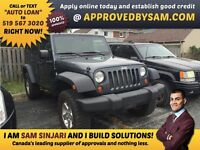 "UPGRADES MADE EASY - WRANGLER - TEXT ""AUTO LOAN"" TO 519 567 3020"