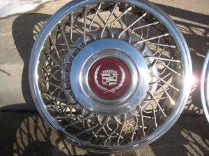 Cadillac wire wheel discs hub caps