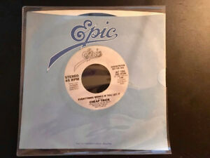 "Cheap Trick ""EVERYTHING WORKS IF YOU LET IT"" Promo 7"" Vinyl 45"