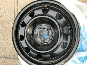 Set of 4 steel wheels