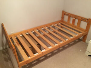 FREE Pine bed frame - twin