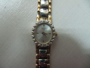 Elegant Ladies Bulova Caravelle Diamond Clad DressWatch Cir1980s