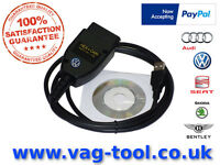 VAG-TOOL as good as VAGCOM VCDS VAS HEX CAN, The best Diagnostic tool for AUDI VW SEAT SKODA.