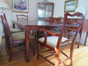 Solid hardwood dining room set,buffet and corner cabinet