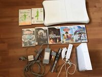 Nintendo wii console fit board and games