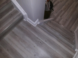 Vinyl flooring planks,waterproof +Stairs renovations