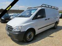 2014 63 MERCEDES-BENZ VITO 2.1 113 CDI LWB 136 BHP 21141 MILES ONLY DIESEL