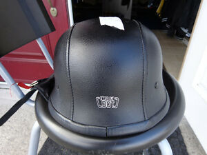 Black leather clad helmet in xx-large    recycledgear.ca Kawartha Lakes Peterborough Area image 1