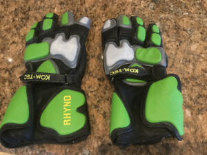 Rhyno komtec, kom tec professional motorcycle leather gloves