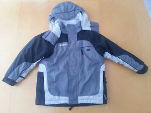 Grey and black winter Columbia jacket for boys