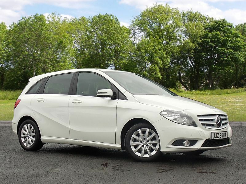 mercedes benz b class 1 8 b180 cdi blueefficiency se 5dr start stop white 2013 in. Black Bedroom Furniture Sets. Home Design Ideas