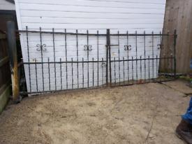 Wrought iron heavy duty gates
