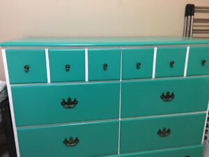 Solid wood dresser and drawers