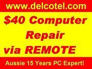 $50 Computer Laptop Repair Onsite or Remote Control Cranebrook Penrith Area Preview