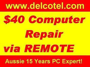 $50 Computer Laptop Repair Onsite or Remote Control