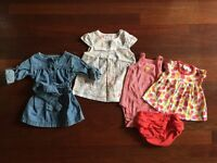 Adorable 5-piece summer set for baby girl, 0-3 months!