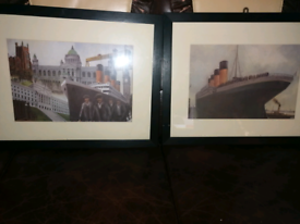 2x titanic picture prints